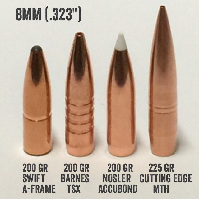 New high bc 8mm Cutting Edge bullets