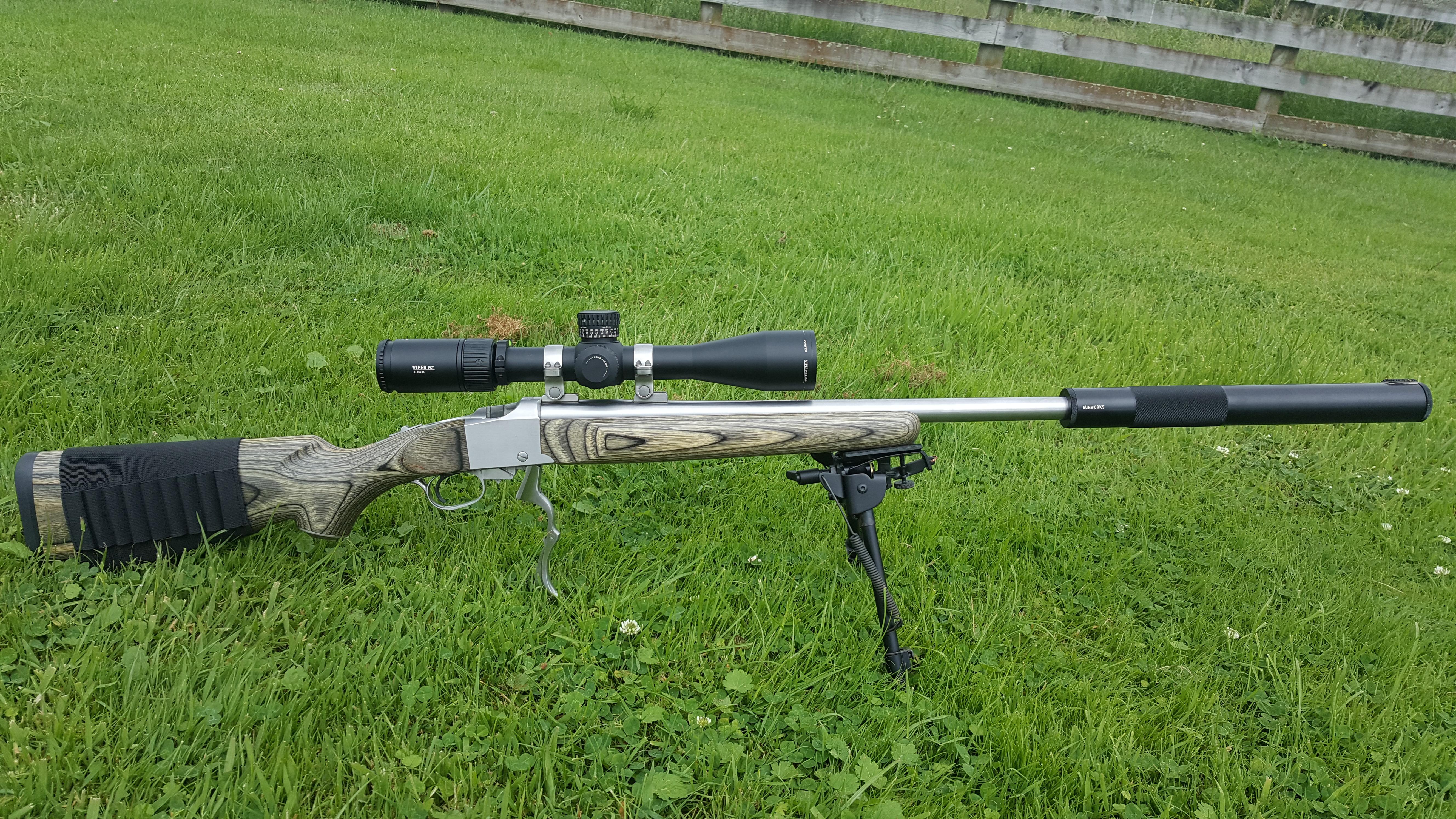Name:  Ruger No.1 .204 SS Laminate Stock  Vortex Viper PST Gen II 3-15x44 Gunworks Suppressor 1.jpg Views: 197 Size:  7.03 MB
