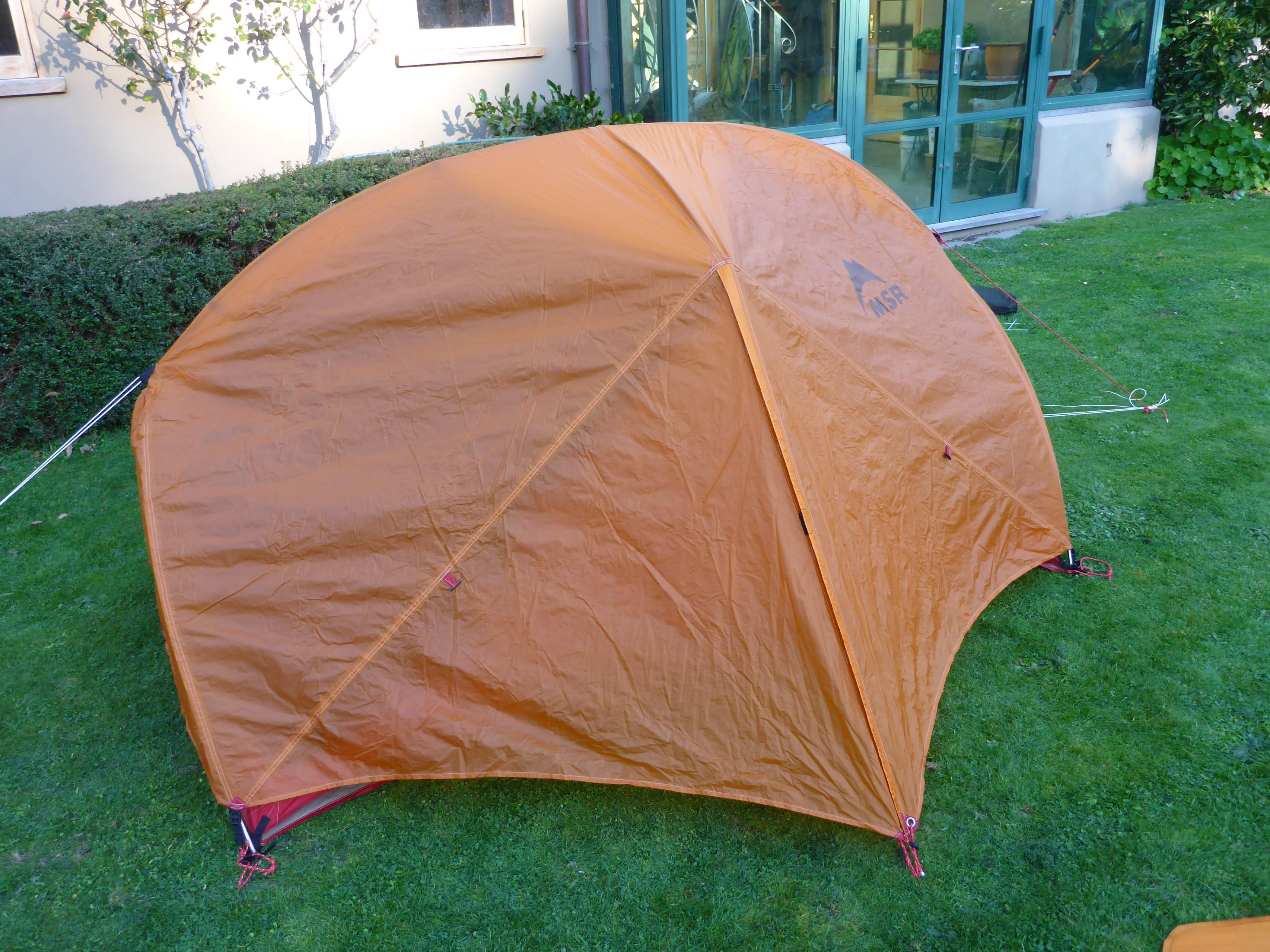 & FS. MSR Hubba Hubba tent and footprint