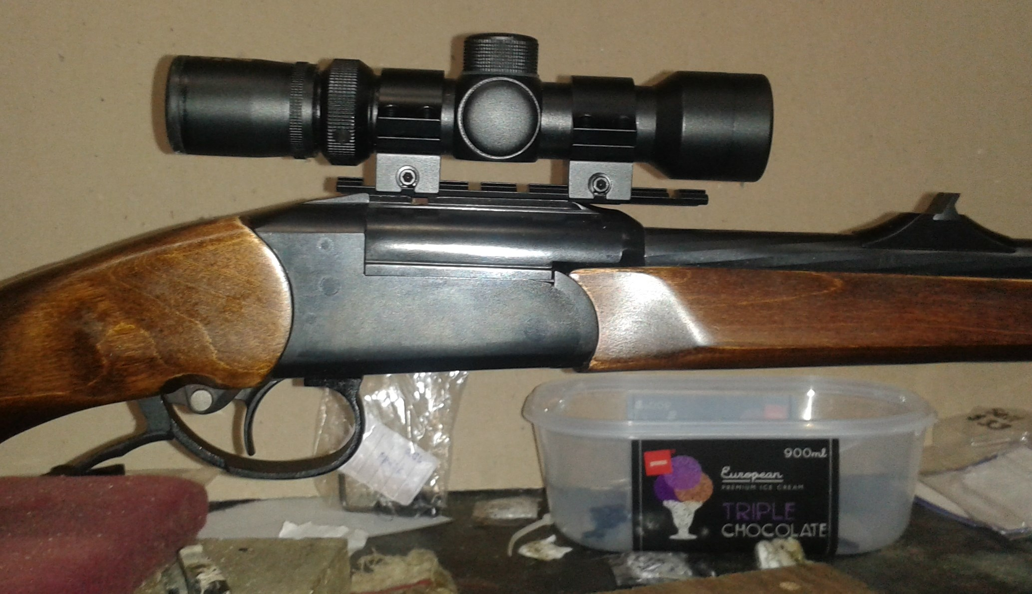 Name:  Izh18 scope mount weaver rail and N C Star ultra compact.jpg