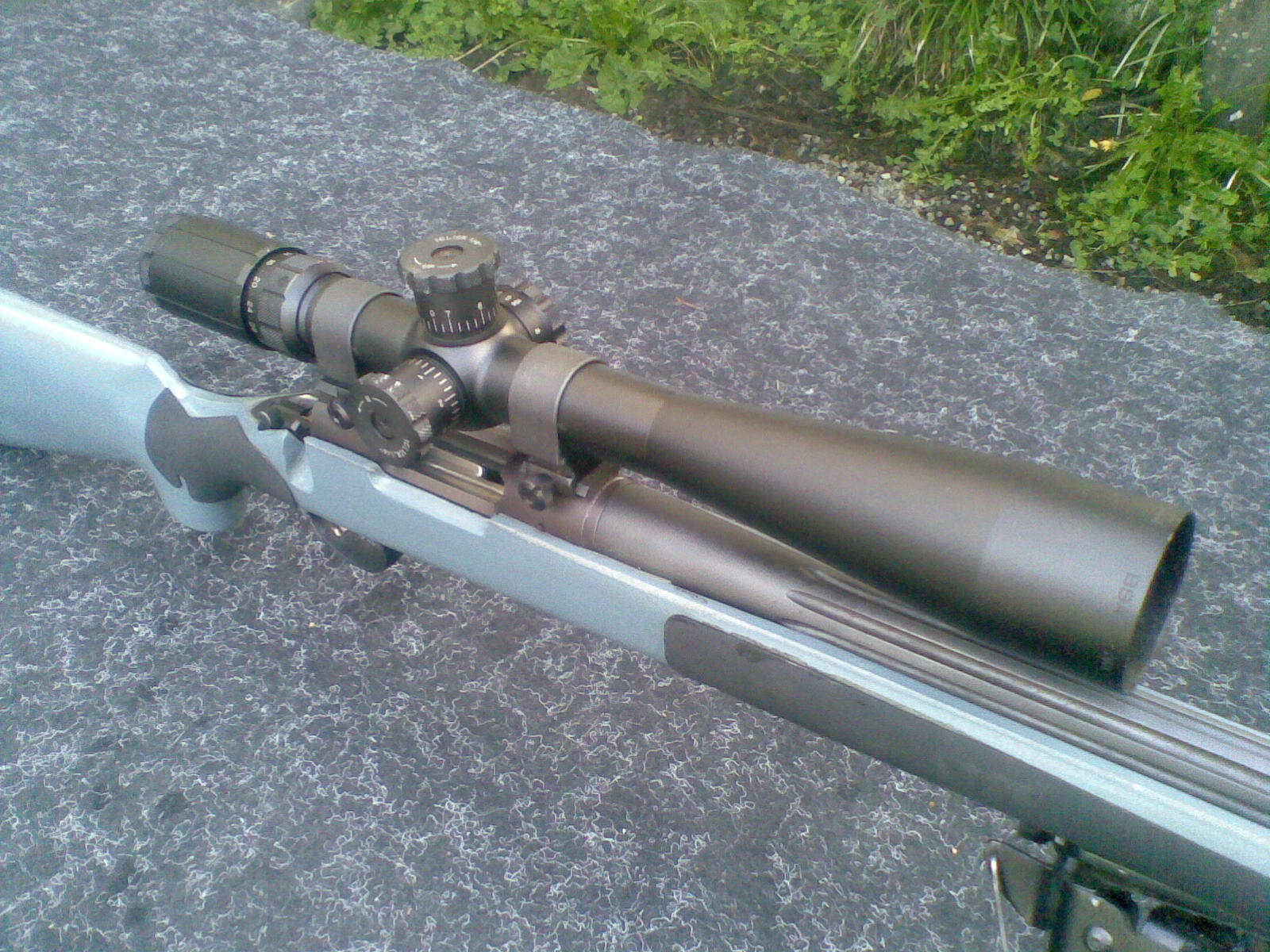 Hightec Stock and 700 Rem bull barrel with heavy suppressor