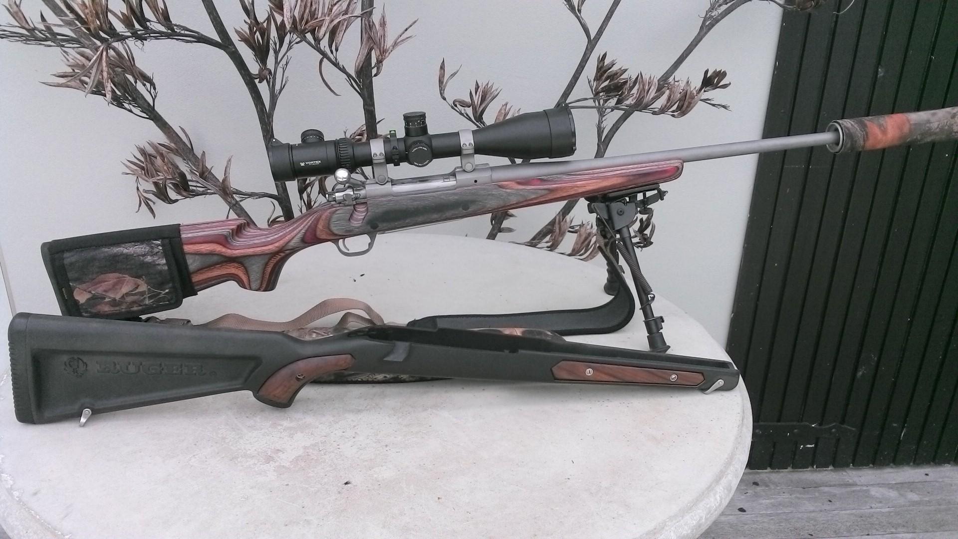 Name:  Ruger M77 MkII 6.5 x.284 Matt SS Custom Laminate 4-16x50 FFP PST Vortex Viper MAE CPBLS Suppress.jpg Views: 455 Size:  441.3 KB