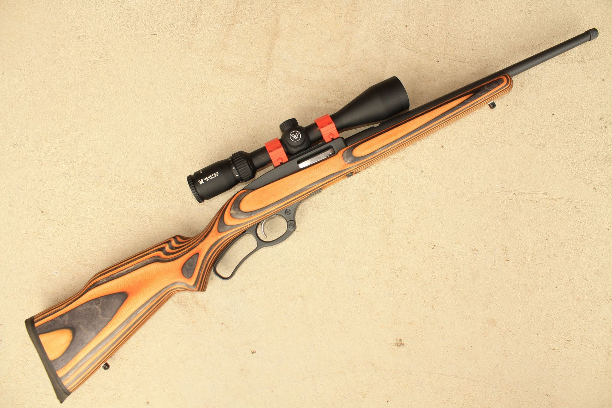 Name:  Ruger 9622  Boyds Rim Fire Hunter Laminate stock Hunter Orange Vortex DiamondBack HP 3-12x42 MAE.jpg Views: 1320 Size:  431.0 KB