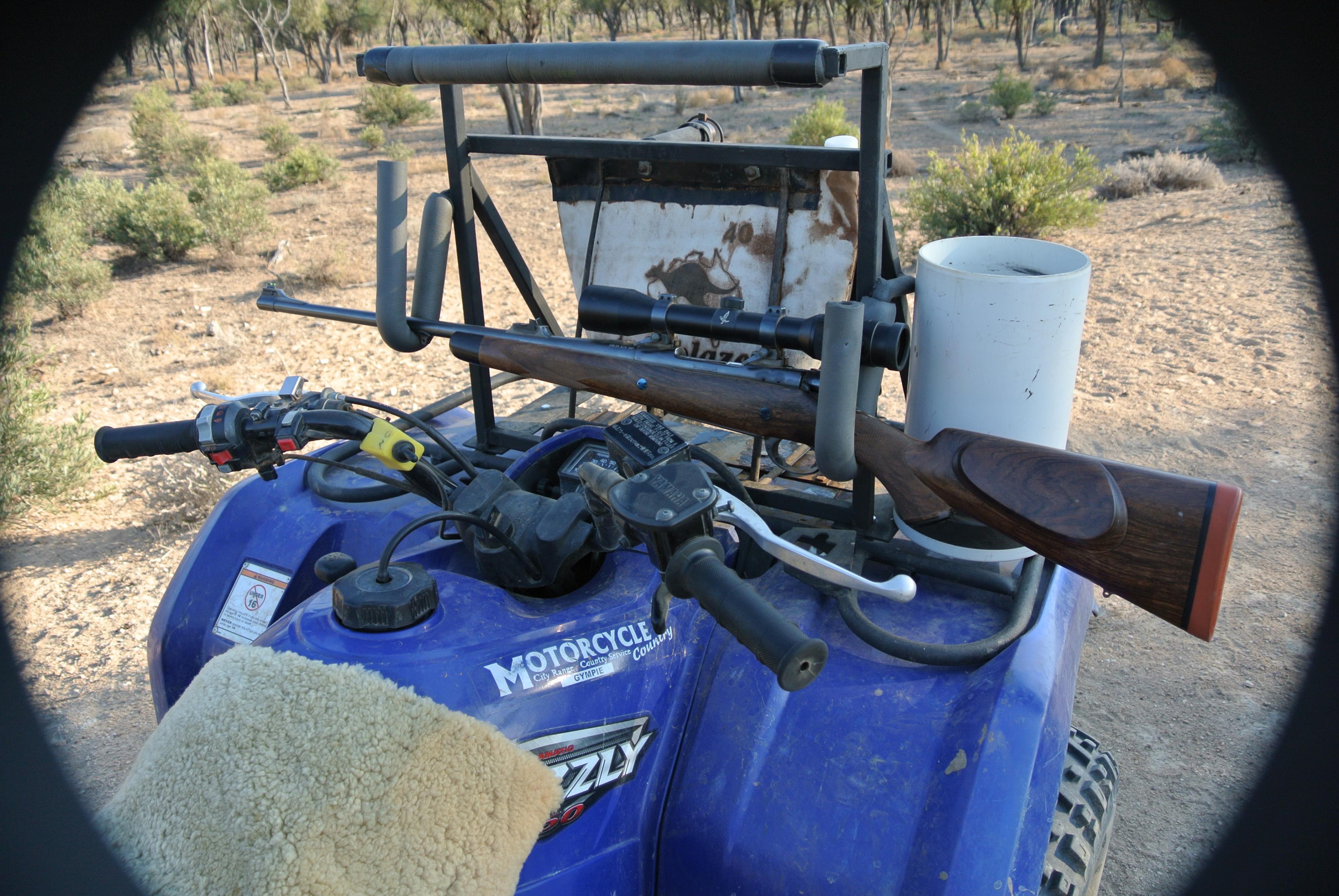 Quad bike rifle rest/shooting frame/gun rack