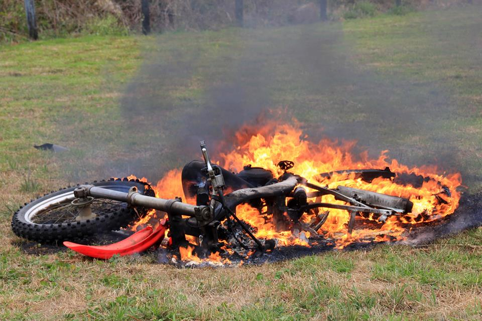 Name:  Kaikohe bike fire.jpg