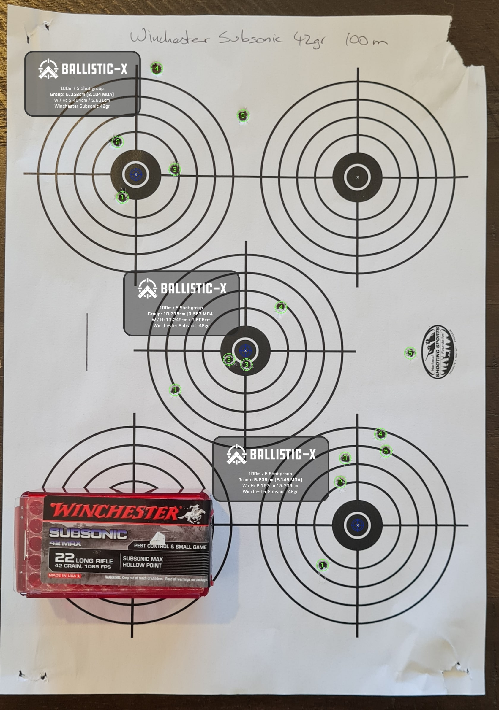 Name:  Winchester Subsonic 42gr 100m.jpg Views: 128 Size:  425.3 KB
