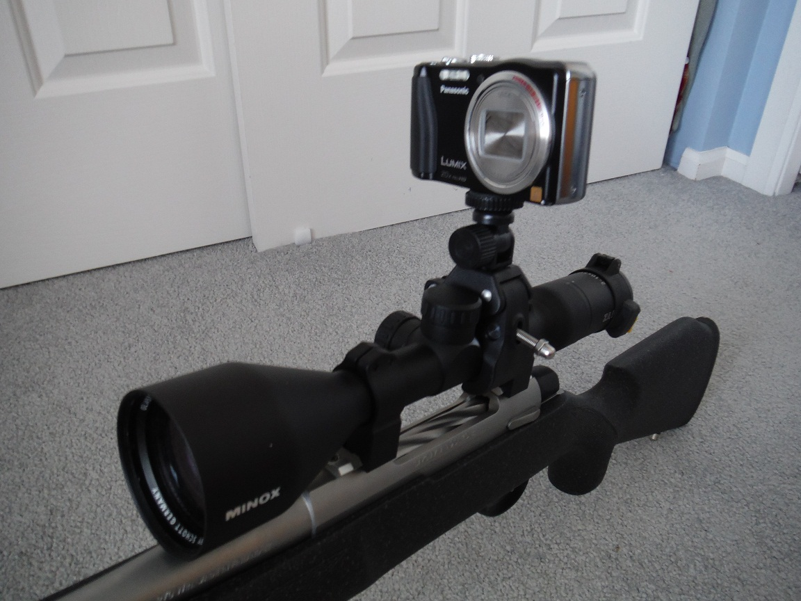 Oscilloscope With Camera Mount : Camera mount for rifle scope