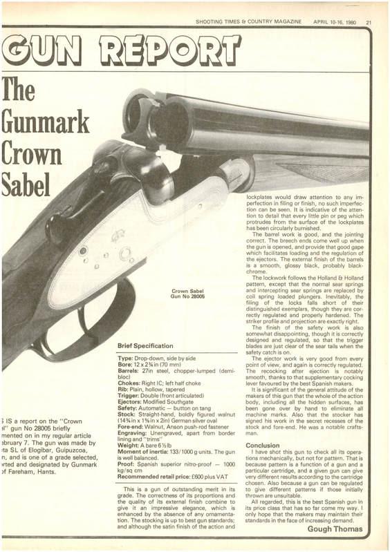 Gorosabel Shotgun Value
